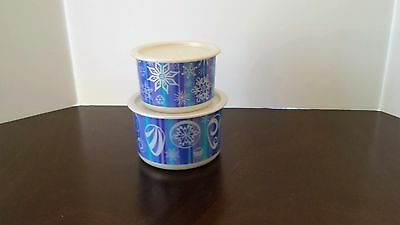 Tupperware Canisters set of 2 small Winter Scene