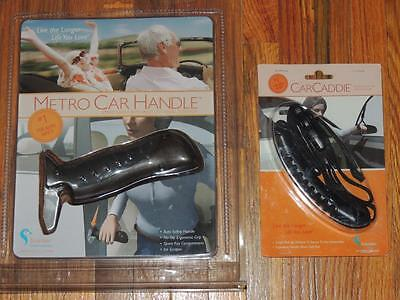 LOT OF 2 STANDER METRO CAR HANDLE & CAR CADDIE GRIP w/ICE SCRAPER SPARE KEY HOLD