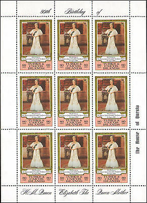 Turks and Caicos Islands #444 MNH sheet of 9