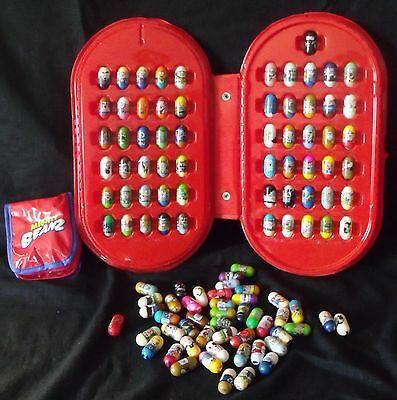 Mighty Beanz lot of 108 from 2004 + two cases