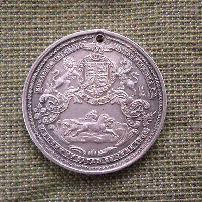 #d282.  1902  Natal South Africa Edward Vii  Silver  Coronation    Medal