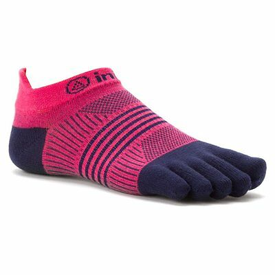 Injinji Performance Run 2.0 No-Show Coolmax Womens Toesocks XS/SM, Pink/Blue