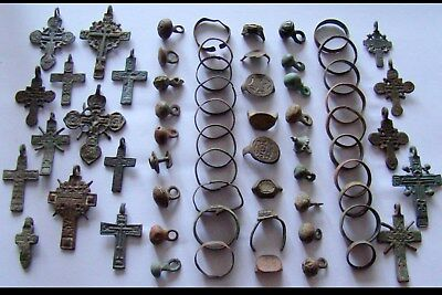 GENUINE AncientWeddingBronzeRINGS,Crosses,RINGS Fragments,Buttons-DETECTOR (1)