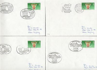 Germany Berlin Michel Nr.732 on 4 cover Basketball hz52