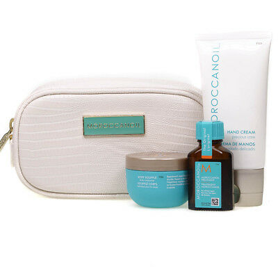 Moroccanoil Travel Luxuries Skincare Hair Oil Hand Cream Body Souffle Gift Set