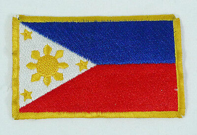 "Vintage Philippines Flag Small Patch 3.5"" X 2"""