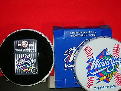 Mint Zippo 1999 New York Yankees World Series Collector Edition Lighter