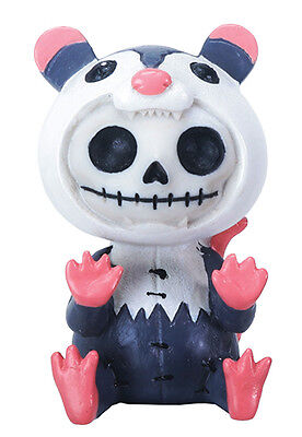 Furrybones Awesome Skeleton in Possum Costume Halloween Figurine