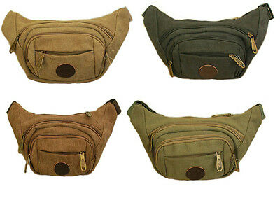Bum Bag Fanny Pack Travel Festival Money Waist Belt Leather Pouch Holiday D-122