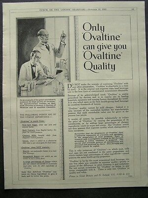 1930s advert for OVALTINE beverage tonic drink chemists doctors advertising 1932