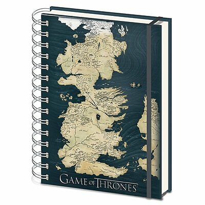 Game of Thrones Map of Westeros A5 Notebook
