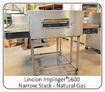 "Lincoln Impinger Conveyor 32"" Belt Narrow Stack Pizza Gas Oven #1600 Tested"