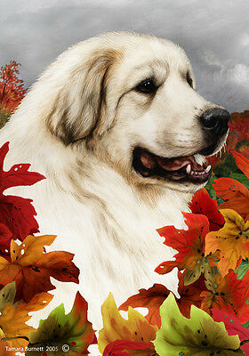 Garden Indoor/Outdoor Fall Flag - Great Pyrenees 131461