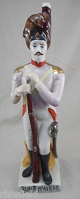 Infantry Soldier (19th Century) Modern Porcelain Figurine 9.2 inches tall