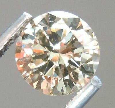 2.52 ct 9.02 mm Loose Moissanite fiery light brown round brilliant cut