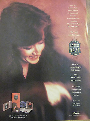 Bonnie Raitt, Luck of the Draw, Full Page Promotional Ad