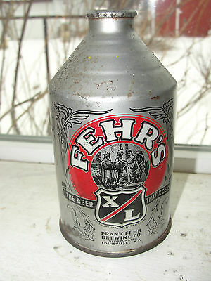 Fehr's Cone Top Original Advertising Beer,the Beer That Xcess,frank Fehr Brewing