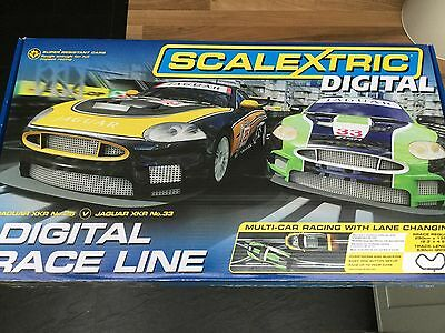 Scalextric Digital Race Line Slot Car Set With 3 Cars