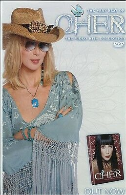CHER poster THE VERY BEST OF CHER  : promo poster - 11 x 17 inches