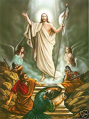 Catholic Print Picture RESURRECTION of Jesus on EASTER ready to frame