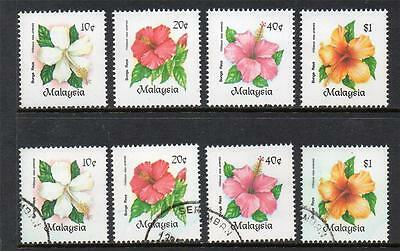Malaysia Mnh & Used 1984 Sg304-307 Hibiscus Sets Of 4