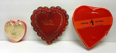 Lot of 3 Vintage Heart Shaped Valentine's Candy Boxes!