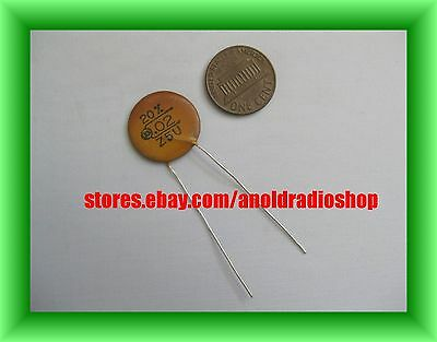 ***Sale Priced*** NOS 1960's Circle D .02 +-20% 5ZU .02 uF Tone Disc Capacitor
