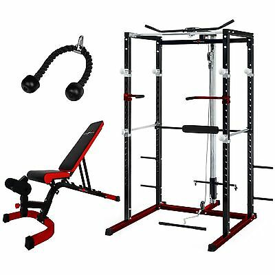 NERO™ Power Rack Squat Cage Weight Bench Combo Package Machine Pull Up Multi Gym
