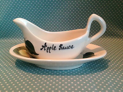 Vintage 70's Toni Raymond apple sauce boat and stand.