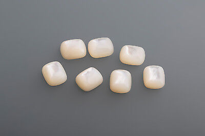 one 12 x 10 mm antik Mother of pearl white / high muggled Box 6 (9)
