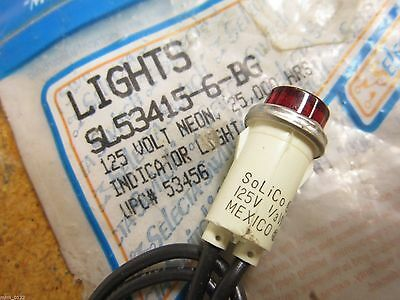 Selecta SL53415-6-BG Indicator Light 125V Neon 25,000 Hours UPC# 53456 NEW