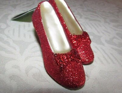 Wizard of Oz Dorothy Red Shoes Christmas Ornament by Hallmark Glitter Red