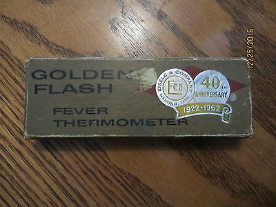 Golden Flash fever thermometer 40th anniversary 1922-62 Eisele & Company in box