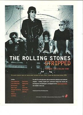 The Rolling Stones, Stripped, Full Page Ad