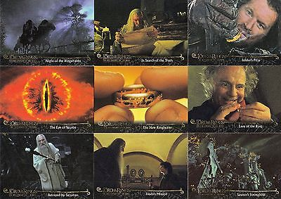 Lord Of The Rings Fellowship Update 2002 Topps Base Card Set Of 72 Movie Ring