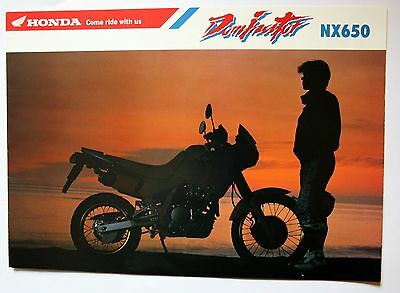 Honda Nx650 Dominator Sales Brochure