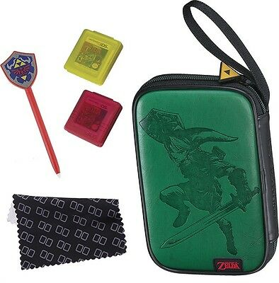 Nintendo New 3DS XL new 3DS Zelda grün Essential Pack Tasche Link Prägung Case