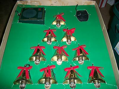 Mr. Christmas LIGHTED MUSICAL BELLS OF CHRISTMAS ORNAMENTS, 21 Songs; Xtra Bulbs