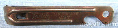 """Rare TODDY """"Chocolate Malt"""" Adv Bottle/Can Opener; Patented USA; Vaughan Chicago"""