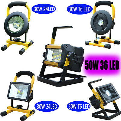 LED Rechargeable Portable Flood Light Spot Work Site Camping Fishing Lamp Torch