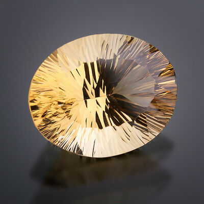 Citrin Oval 28,7x22,8mm Concave Cut 50,83 Ct Single piece / real Citrine
