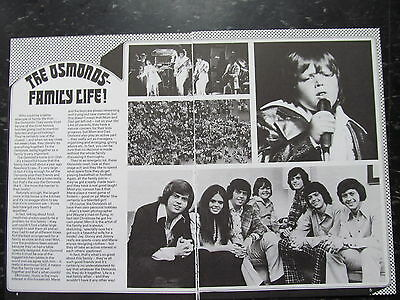 Donny Osmond and Osmond Brothers, Two Page Vintage Clipping, Osmonds