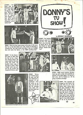 Donny Osmond, Osmond Brothers, Full Page Vintage Clipping, Jamie Redfern