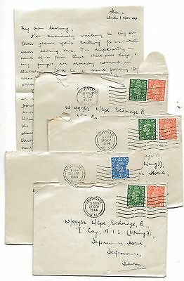 WW2 ATS - Auxiliary Territorial Service Letters London to Ilfracombe Devon 1944