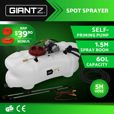 60L ATV Garden Weed Sprayer 12V Pump Tank Chemical Spray Boom Spot Wand PROMO