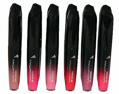 12 x Manhattan Lip Lacquer | Assorted shades | Wholesale cosmetics