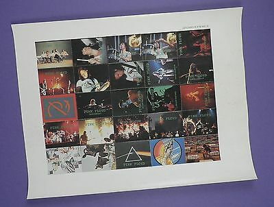 Complete Sheet of 25 Pink Floyd Perforated Stamp Stickers 1994