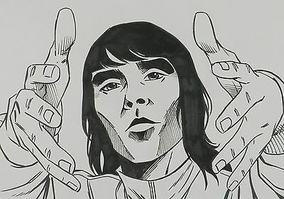 Ian Brown,Stone Roses - Original Art for BBC2 TV - I'm in a Rock 'n' Roll Band!