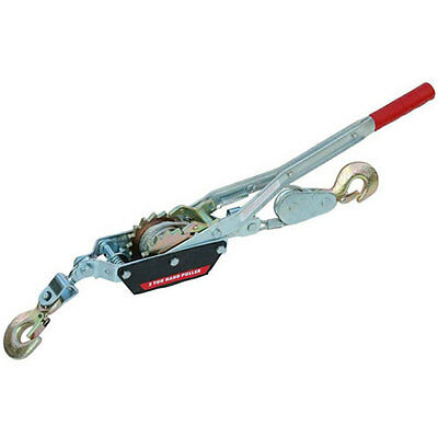 New 2 Ton Cable Puller Pulling Hand Power Winch Hoist Turfer 2000lb Trailer Car