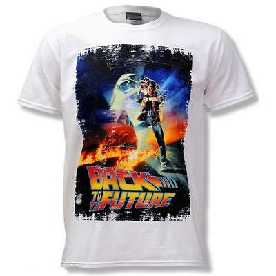 Back To The Future - Movie Poster Short Sleeve Cotton T-Shirt - New & Official